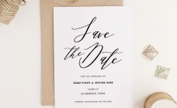 004 Striking Save The Date Template Word Highest Quality  Free Customizable For Holiday Party
