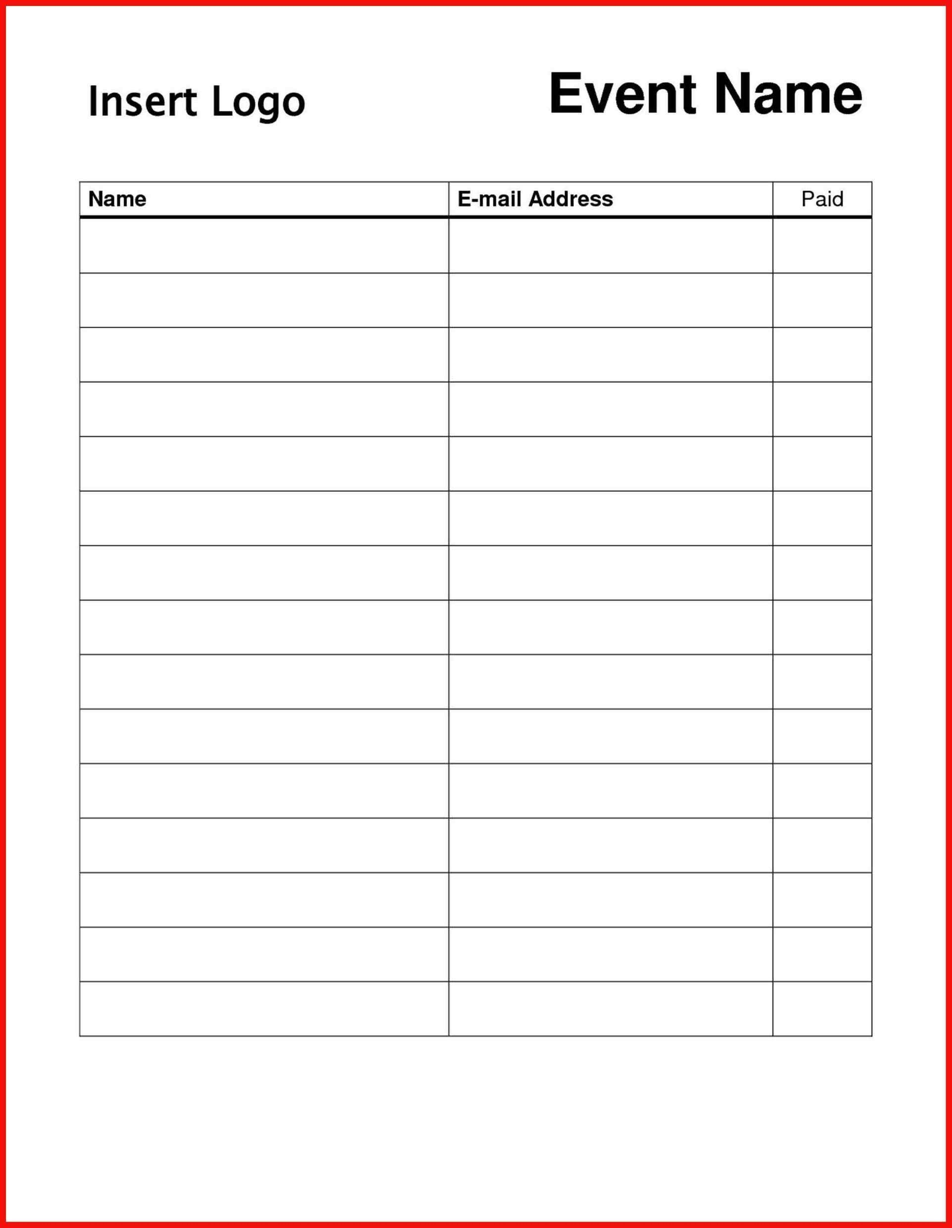 004 Striking Sign In Sheet Template Doc Photo  Visitor Event UpFull