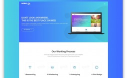 004 Striking Simple Landing Page Template Idea  Html Bootstrap Free