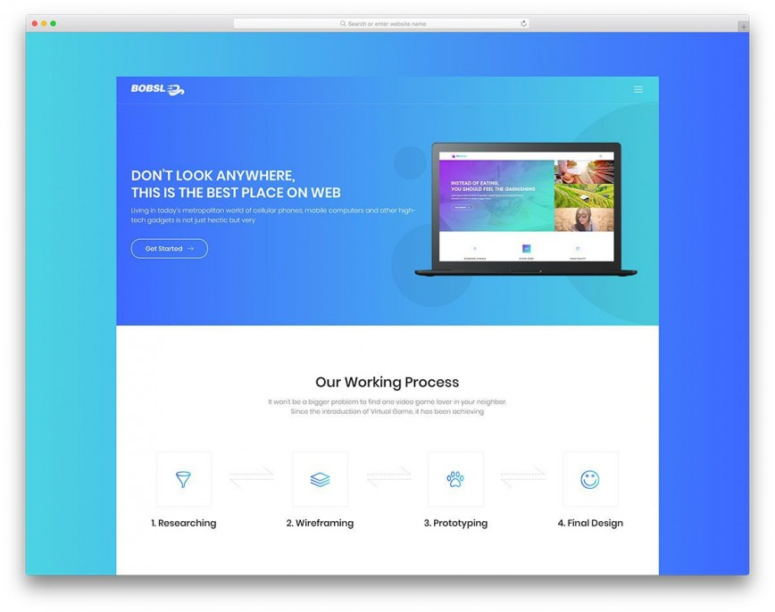 004 Striking Simple Landing Page Template Idea  Free Download