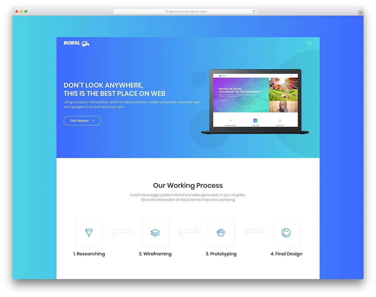 004 Striking Simple Landing Page Template Idea  Html Bootstrap FreeFull