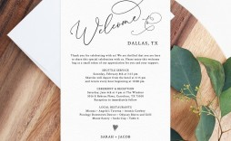 004 Striking Wedding Hotel Welcome Letter Template Photo