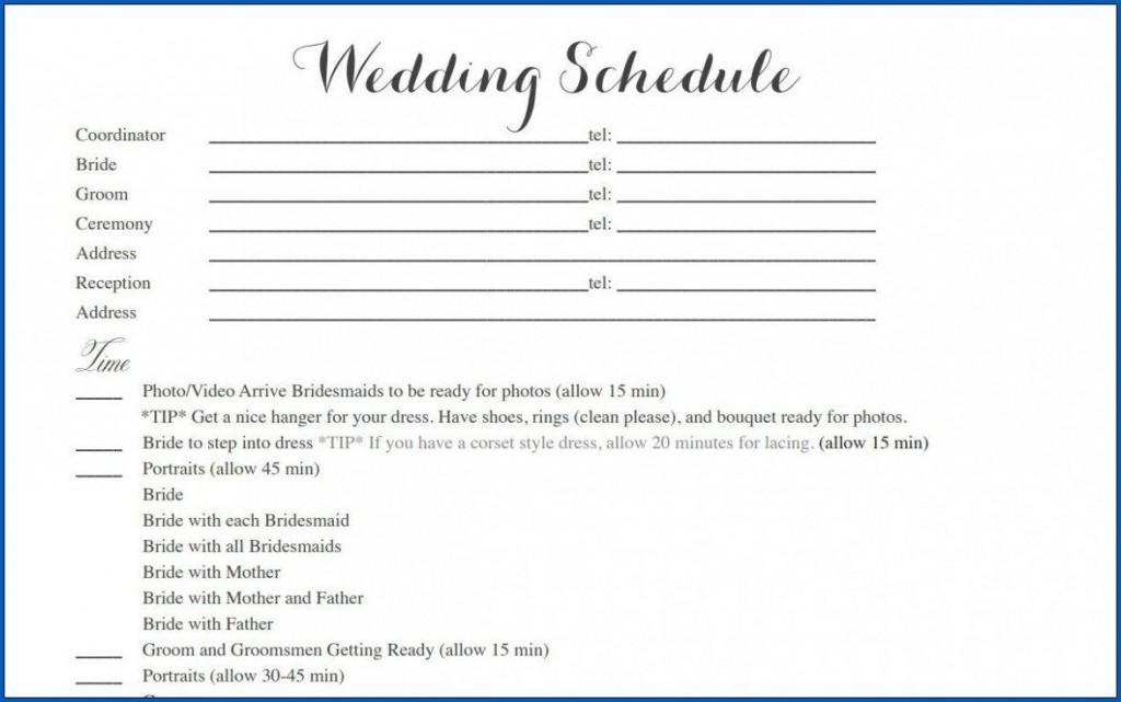 004 Striking Wedding Timeline Template Free Inspiration  Day Excel ProgramLarge