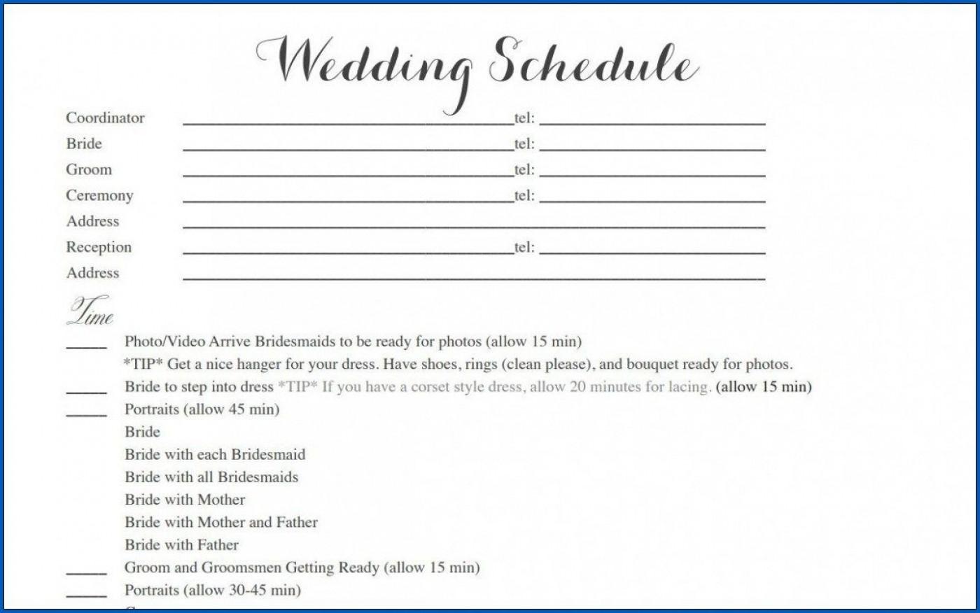 004 Striking Wedding Timeline Template Free Inspiration  Day Excel Program1400