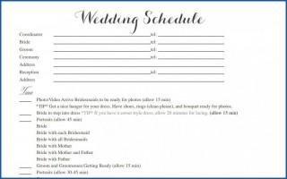004 Striking Wedding Timeline Template Free Inspiration  Day Excel Program320