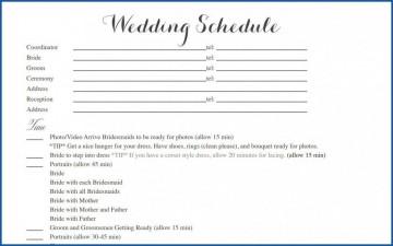 004 Striking Wedding Timeline Template Free Inspiration  Day Excel Program360