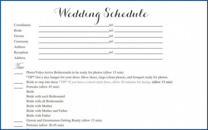 004 Striking Wedding Timeline Template Free Inspiration  Day Excel Program728