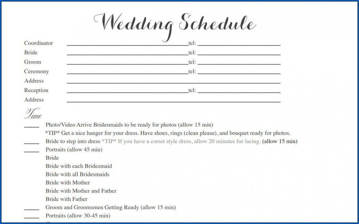 004 Striking Wedding Timeline Template Free Inspiration  Day Excel ProgramFull