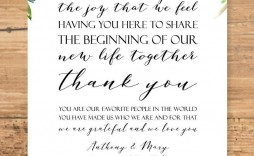 004 Striking Wedding Welcome Letter Template Word Concept