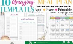 004 Striking Weekly Meal Plan Template App Photo  Apple Page