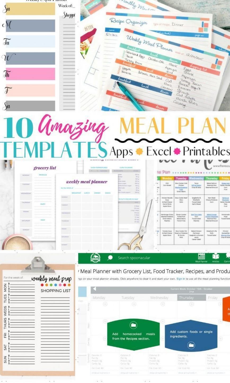 004 Striking Weekly Meal Plan Template App Photo