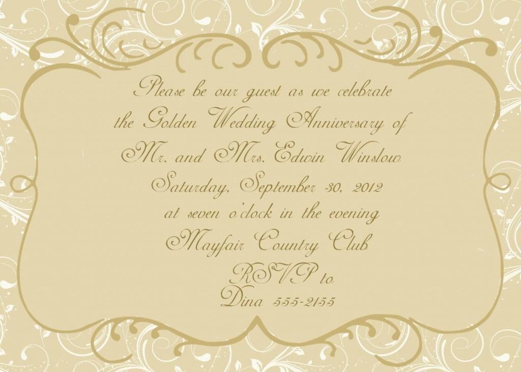 004 Stunning 50th Anniversary Invitation Card Template Inspiration  Templates FreeLarge