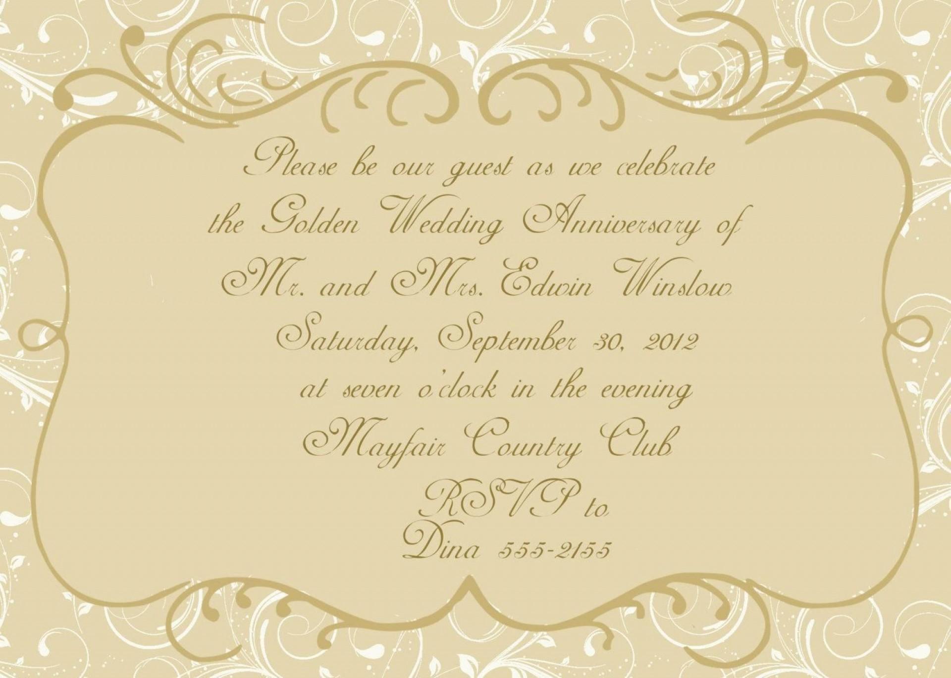 004 Stunning 50th Anniversary Invitation Card Template Inspiration  Templates Free1920