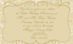 004 Stunning 50th Anniversary Invitation Card Template Inspiration  Templates Free
