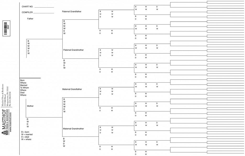 004 Stunning 7 Generation Family Tree Template High Def  Blank Free EditableLarge