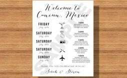 004 Stunning Destination Wedding Itinerary Template Highest Clarity  Welcome Letter And Sample Free
