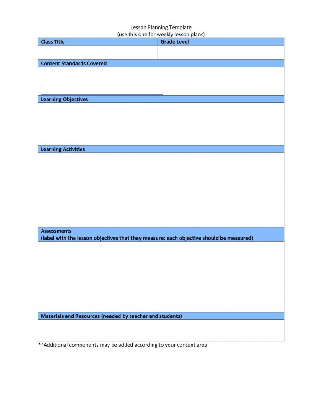 004 Stunning Downloadable Lesson Plan Template High Resolution  Printable Weekly Pdf Free WordLarge