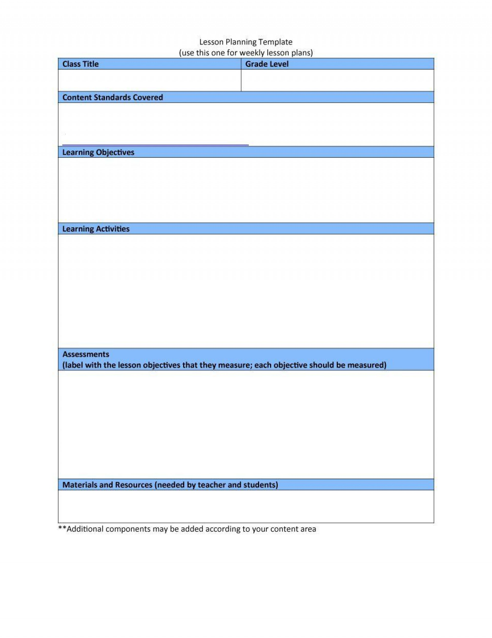 004 Stunning Downloadable Lesson Plan Template High Resolution  Printable Weekly Pdf Free Word1920