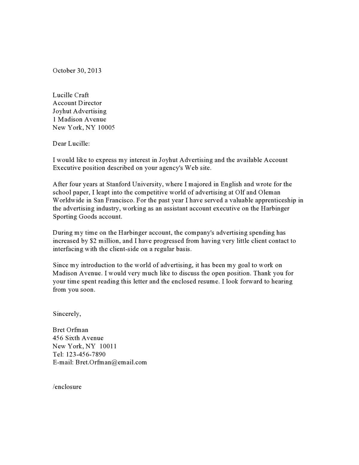 004 Stunning Excellent Covering Letter Example Sample  ExamplesFull