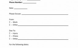 004 Stunning Free Doctor Note Template For Work Example  Printable Editable Fake Pdf