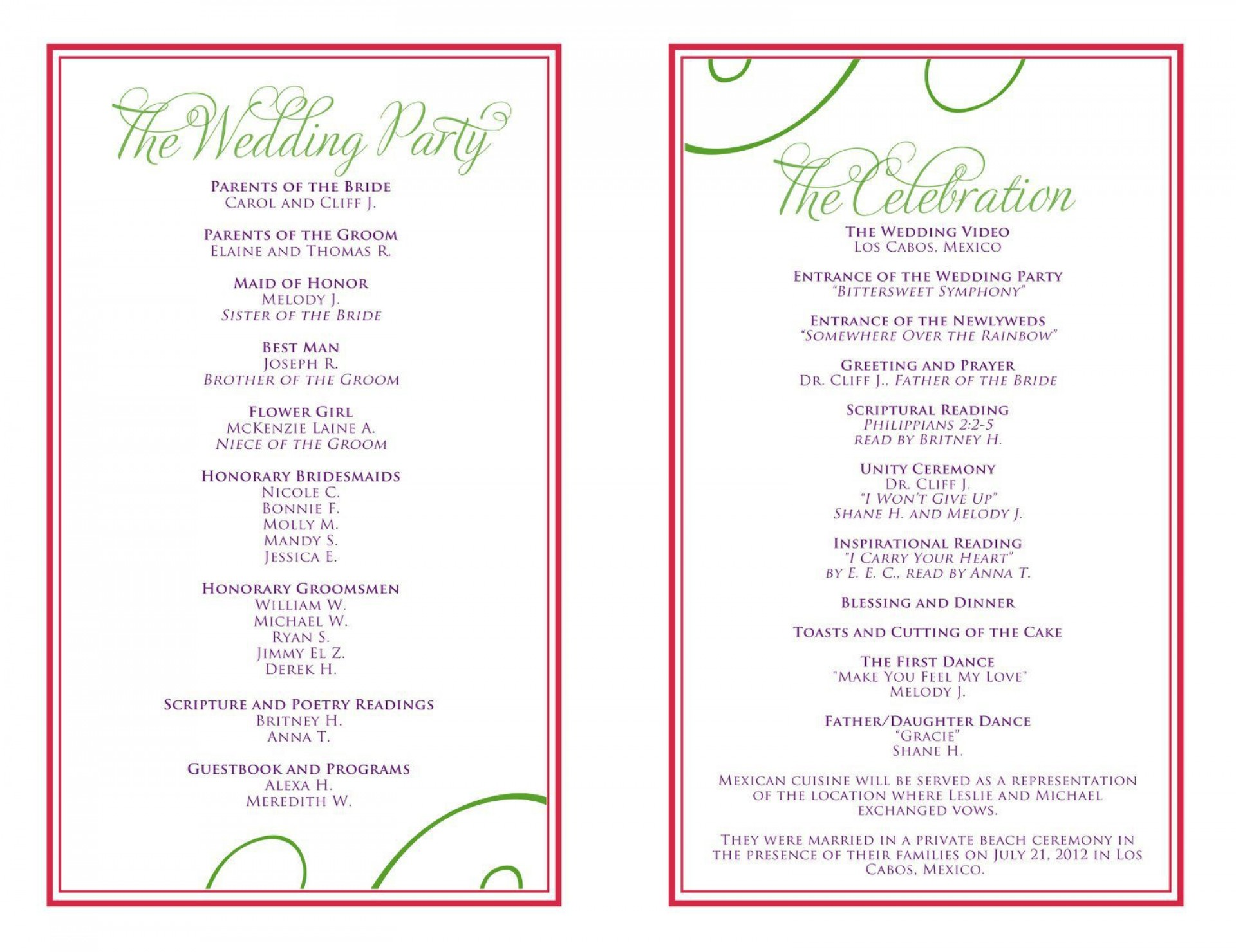 004 Stunning Free Downloadable Wedding Program Template High Definition  Templates That Can Be Printed Printable Fall Reception1920