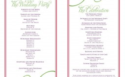 004 Stunning Free Downloadable Wedding Program Template High Definition  Templates That Can Be Printed Printable Fall Reception