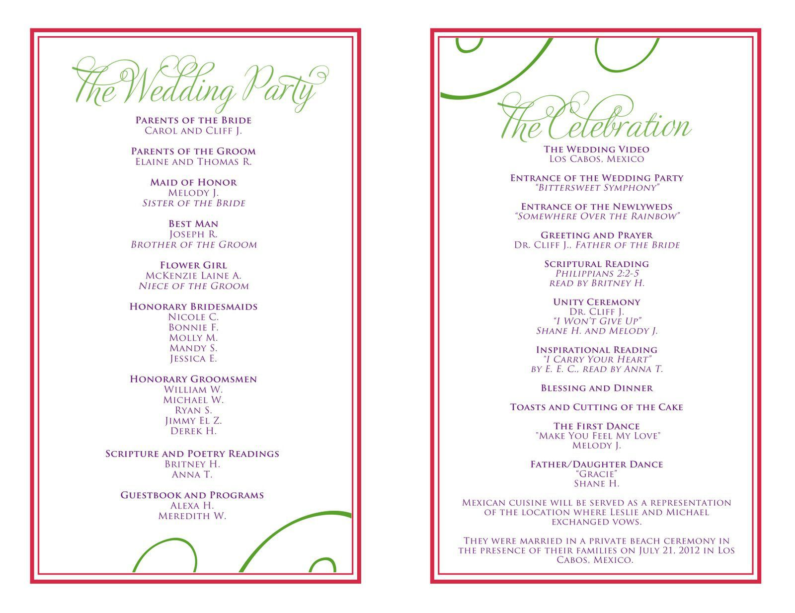 004 Stunning Free Downloadable Wedding Program Template High Definition  Templates That Can Be Printed Printable Fall ReceptionFull