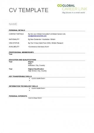 004 Stunning Free Printable Resume Template Australia Image 320
