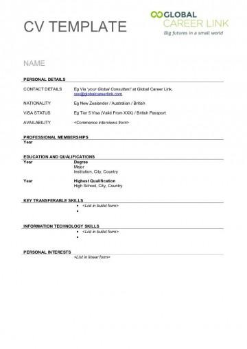 004 Stunning Free Printable Resume Template Australia Image 360