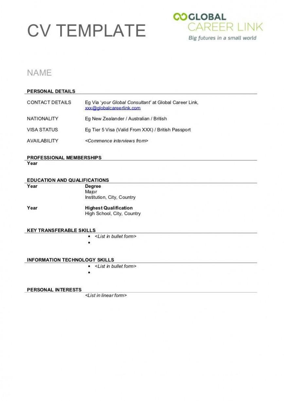 004 Stunning Free Printable Resume Template Australia Image 868