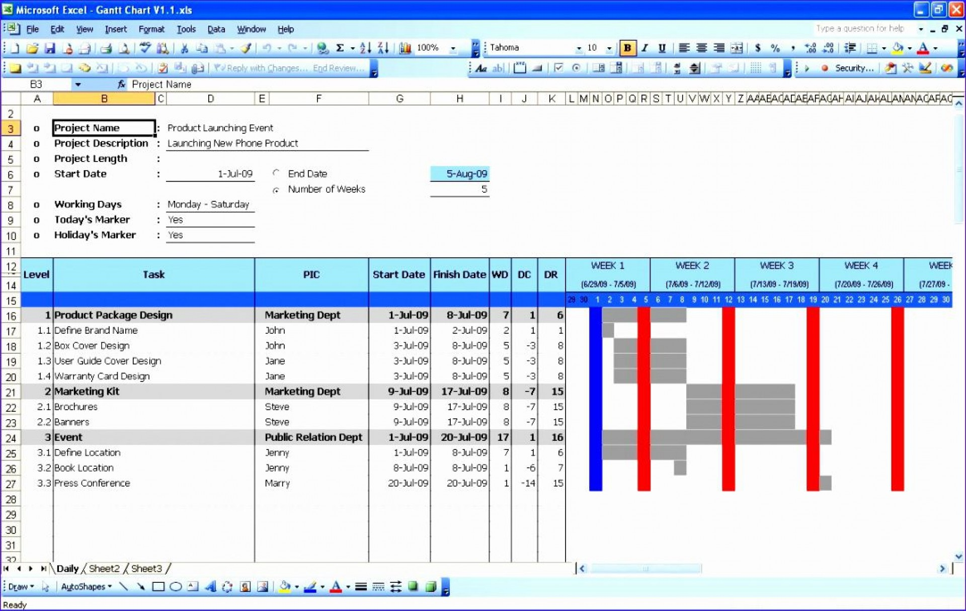 004 Stunning Gantt Chart Template In Excel 2020 Concept  Free1920