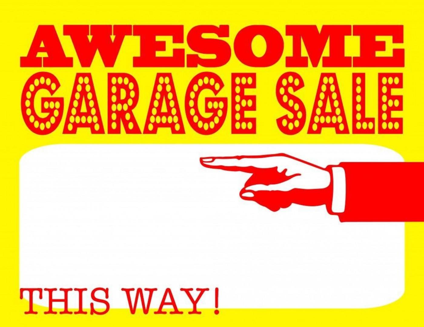 004 Stunning Garage Sale Sign Template Design  Flyer Yard Microsoft Word1400