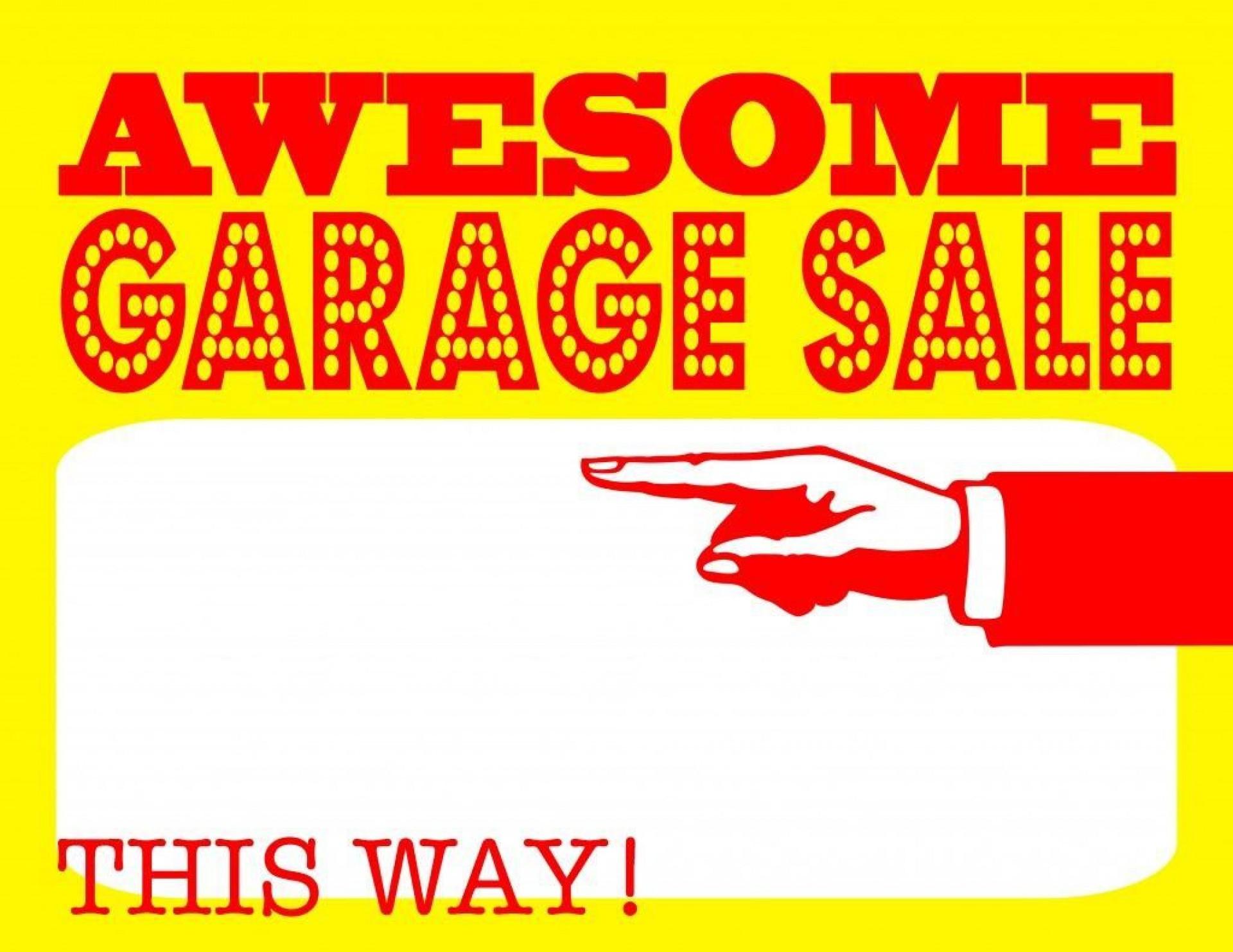 004 Stunning Garage Sale Sign Template Design  Free Flyer Microsoft Word Yard1920