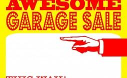 004 Stunning Garage Sale Sign Template Design  Free Flyer Microsoft Word Yard