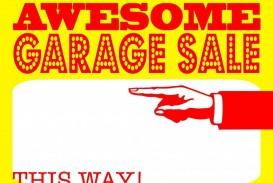 004 Stunning Garage Sale Sign Template Design  Flyer Yard Microsoft Word