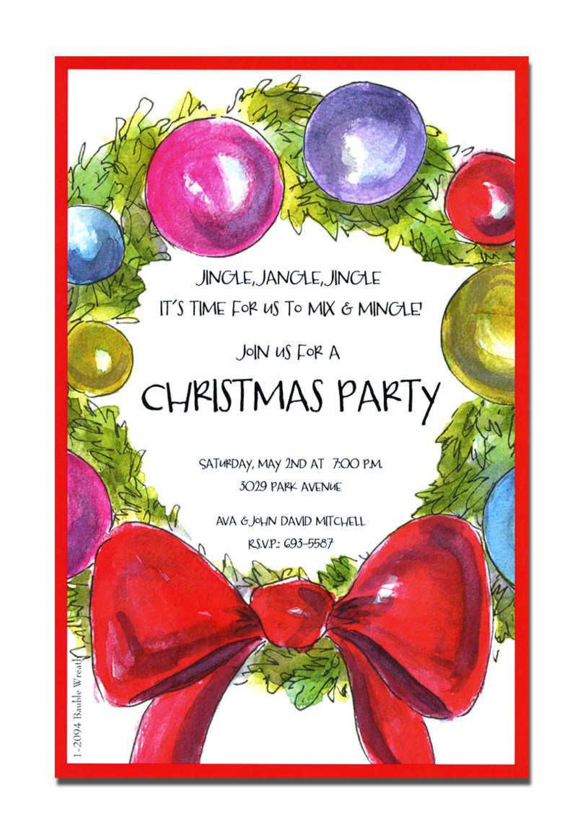 004 Stunning Holiday Open House Invitation Template Sample  Christma Free Printable Wording Idea1920