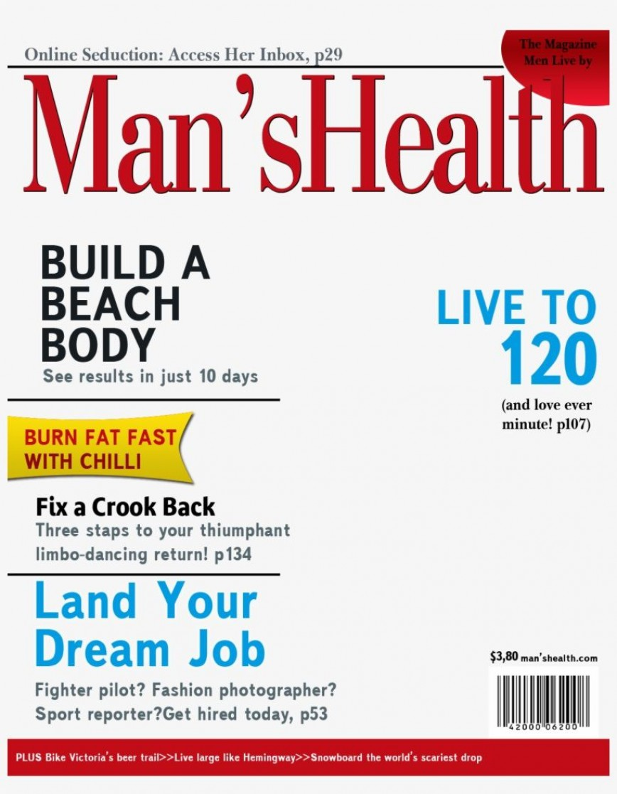 004 Stunning Magazine Cover Template Free Idea  Personalized