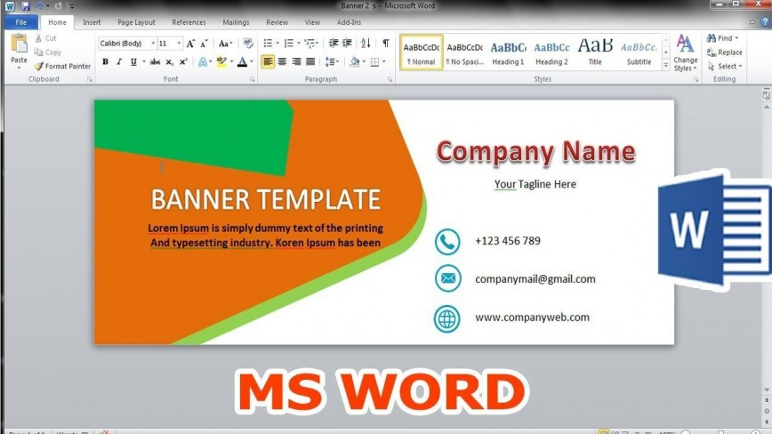 004 Stunning Microsoft Word Banner Template High Resolution  Free M Birthday868