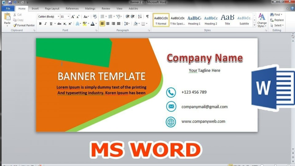 004 Stunning Microsoft Word Banner Template High Resolution  Free M Birthday960