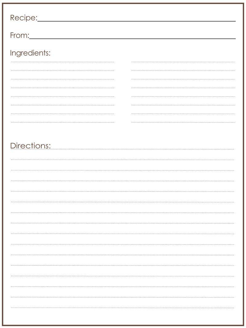 004 Stunning M Word Recipe Template Example  Microsoft Card 2010 Full PageFull