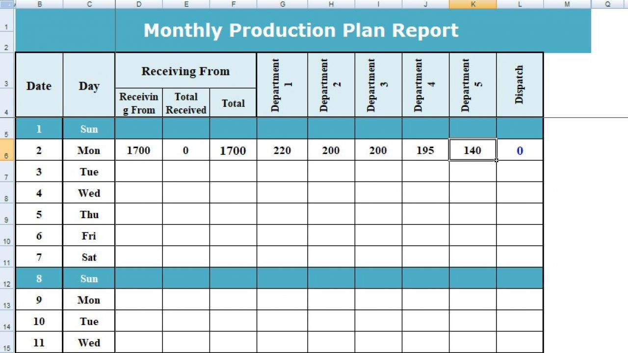 004 Stunning Production Schedule Template Excel Highest Quality  Planning Sheet MasterFull