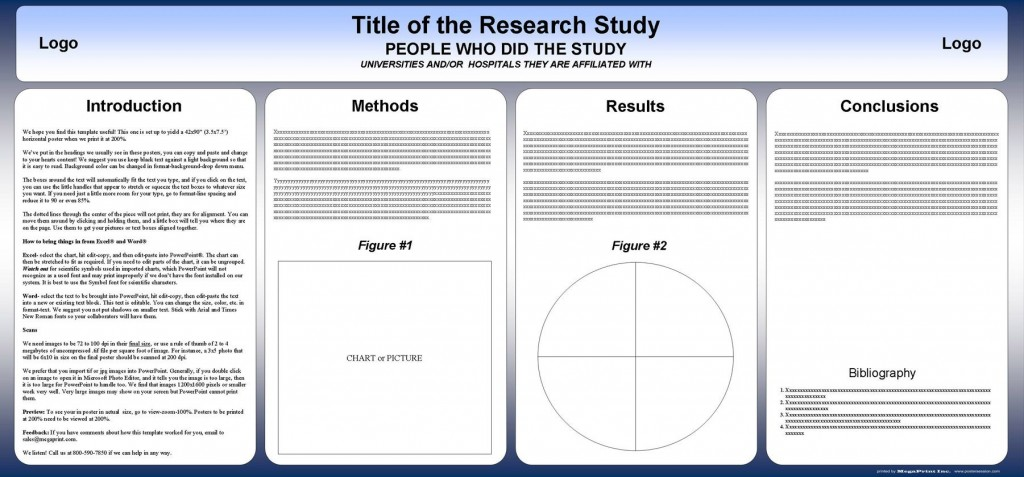 004 Stunning Research Poster Template Powerpoint Example  Scientific PptLarge