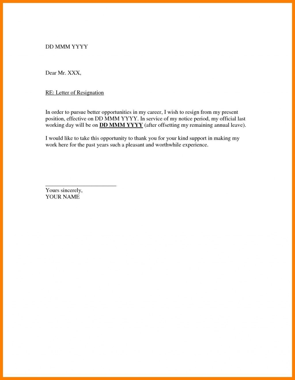 004 Stunning Resignation Letter Sample Free Doc High Def  .docLarge