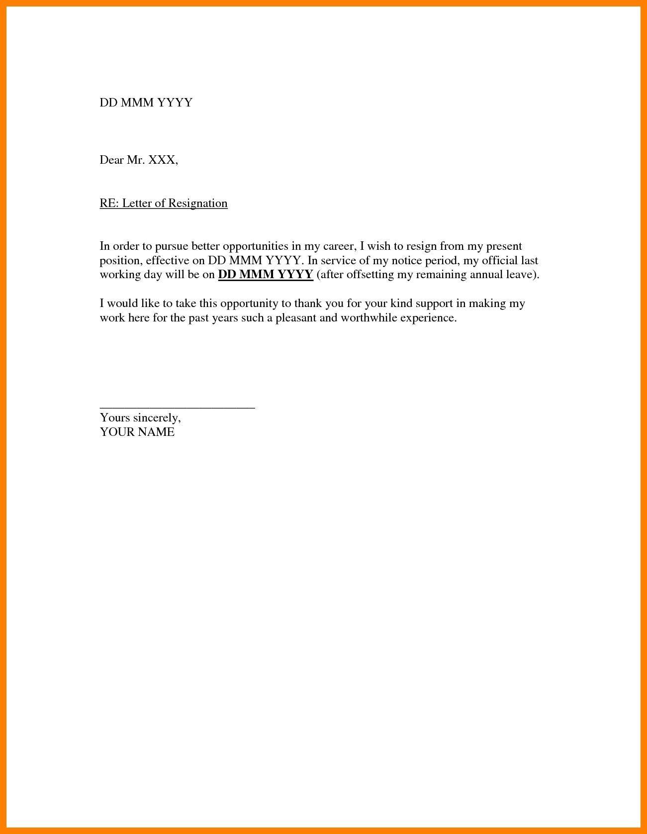 004 Stunning Resignation Letter Sample Free Doc High Def  .docFull