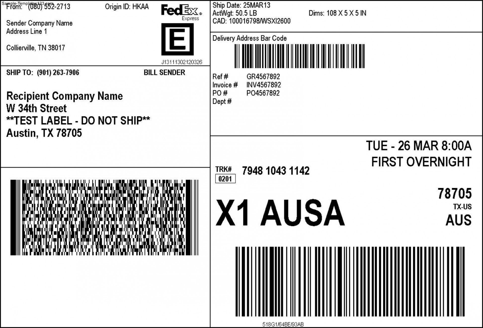 004 Stunning Shipping Label Template Free Word High Resolution Full