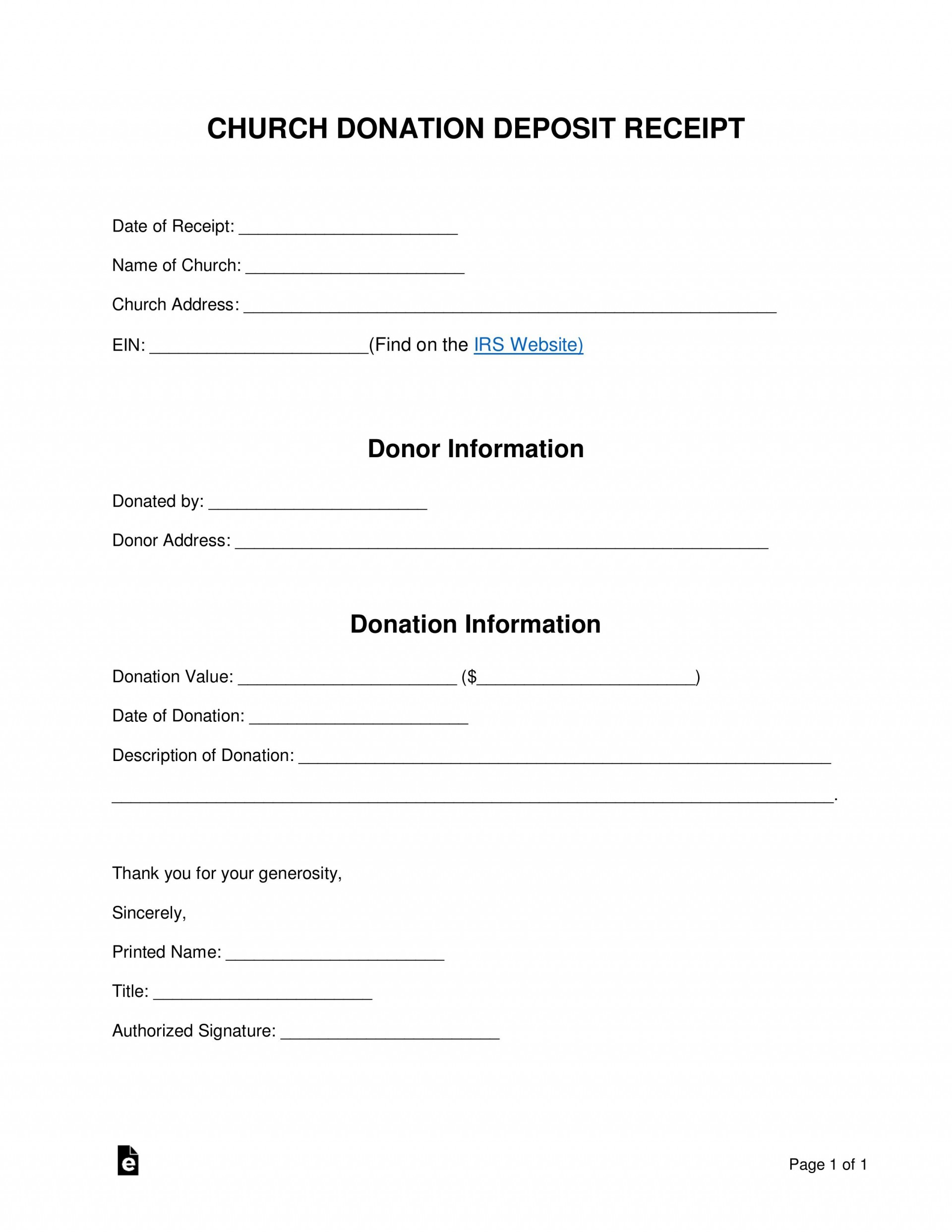004 Stunning Tax Donation Form Template Highest Quality  Ir Charitable Receipt Deductible Example1920