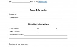 004 Stunning Tax Donation Form Template Highest Quality  Ir Charitable Receipt Deductible Example