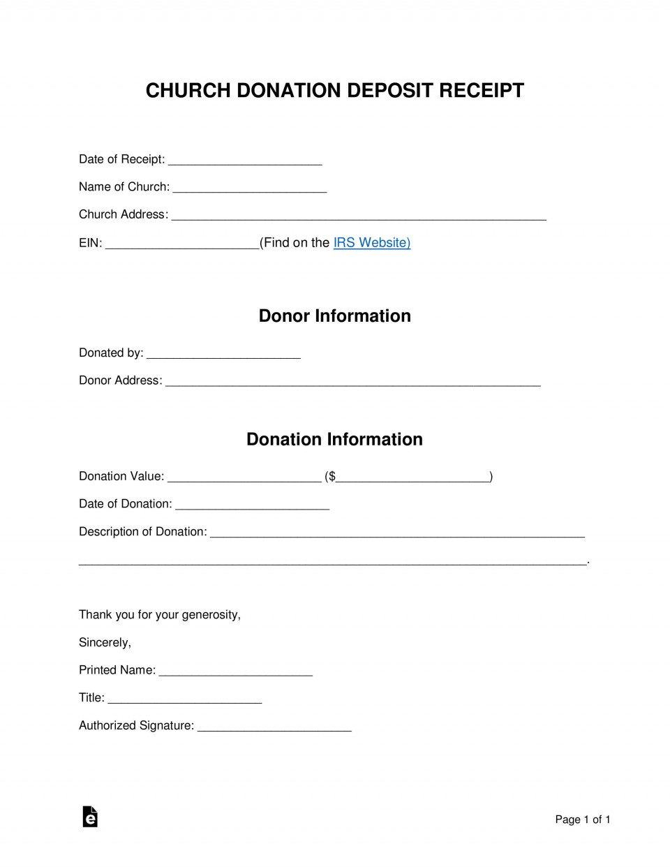 004 Stunning Tax Donation Form Template Highest Quality  Charitable Sample Letter Ir Receipt For Purpose960