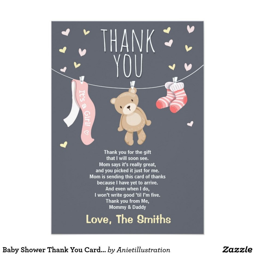 004 Stunning Thank You Note Template Baby Shower Design  Card Free Sample For Letter GiftLarge