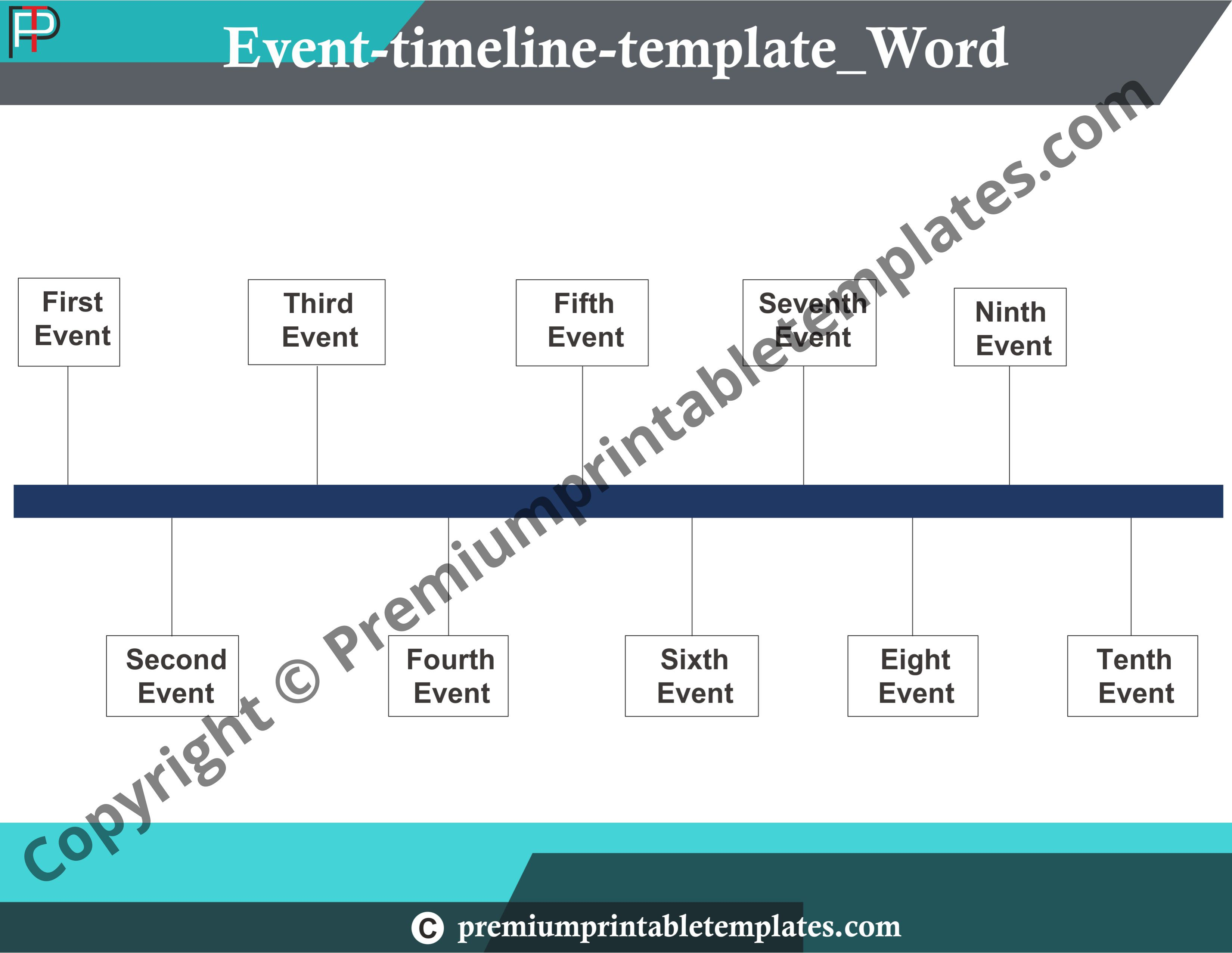 004 Stunning Timeline Template For Word Picture  History DownloadableFull